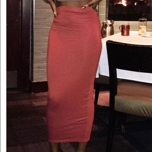 Copper Pencil Skirt